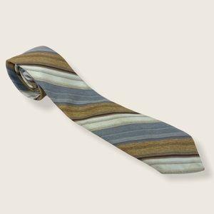 Christian Dior Monsieur Vintage Striped Tie Brown